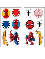 12 sukkerdekoration Spiderman™ 3,4 cm