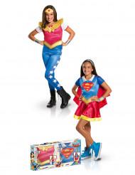Boks med udklædning Supergirl™ og Wonder Woman™ pige