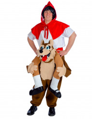 Kostume rødhætte med ulveryg voksen