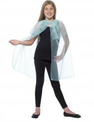 Kappe blå gennemsigtig med snefnug til piger