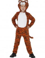 Mørkeorange tigerkostume til børn