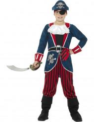 Kostume pirat i blå og rød til børn