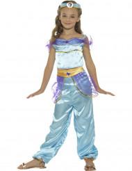 Kostume arabisk prinsesse blå til piger