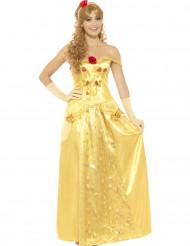 Kostume drømme prinsesse i gul til voksne
