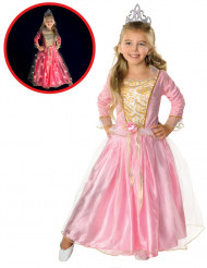 Kostume lysende lyserød prinsessekjole til piger