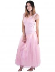 Kostume prinsesse romantisk pink til kvinder
