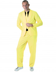 Jakkesæt mode neon gul til voksne