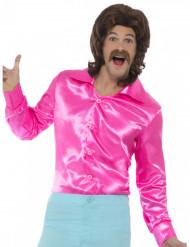 Skjorte satin neon pink til mænd