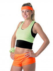 Mini shorts neon orange til kvinder