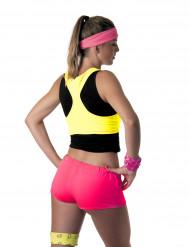 Minishorts lyserød neon til kvinder