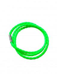 Armbånd flettet neongrønt til voksne