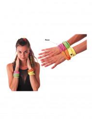 Armbånd fashion neonlyserødt til voksne