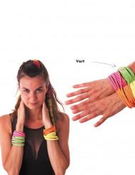 Armbånd fashion neongrønt til voksne