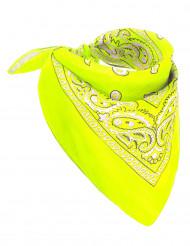 Bandana neon gul til voksne
