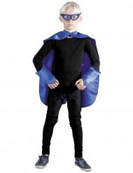 Kit superhelt blå til børn