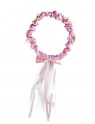 Blomsterkrans med bånd til piger