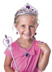 Lilla og sølv prinsessekit til piger
