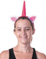 Lyserødt unicorn hårbånd til voksne