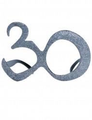 Briller fødselsdag med pailletter 30 år