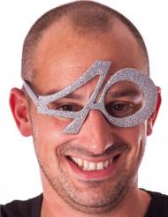 Briller fødselsdag med pailletter 40 år