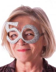 Briller fødselsdag med pailletter 50 år