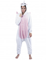 Kostume enhjørning lyserød til voksne