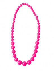 Halskæde med store lyserøde perler til voksne