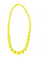 Halskæde store gule perler til voksne