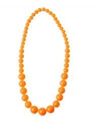 Halskæde store orange perler