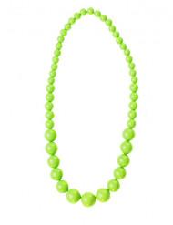 Halskæde med store grønne perler til voksne