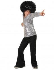 Kostume disko sølvpailletter til drenge