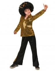 Kostume disco guld pailletter til drenge