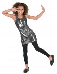 Kostume Disco Sølv Paillet til piger
