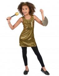 Kostume Disco Guld Paillet til piger
