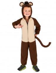 Mørkebrunt abekostume til børn