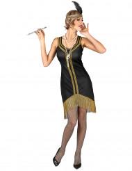 Kostume Charleston Sort og Guld til kvinder