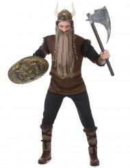 Brunt og sort vikingkostume til mænd