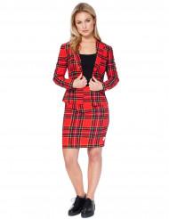 Jakkesæt Mrs. Scots rødt skotsk Opposuit™ til kvinder