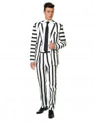 Jakkesæt Mr. Striped sort og hvid til mænd Suitmeister™