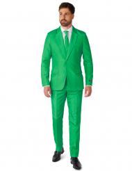 Jakkesæt Mr. Solid grøn til mænd Suitmeister™