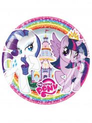 8 Små paptallerkener My Little Pony™ 18 cm