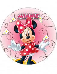 Spiselig kagedekoration disk Minnie™ tilfældig 20 cm