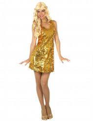 Kostume kjole disko sexet guld til kvinder