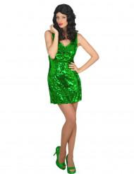 Kostume sexet grøn discokjole til kvinder