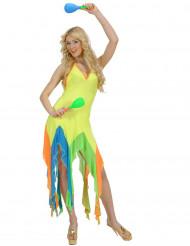 Kostume Brasiliansk Danser flourescerende gul til kvinder