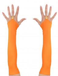 Lange orange ærmer neon til kvinder