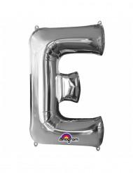 Ballon aluminium gigant bogstav E sølv 53 x 81 cm