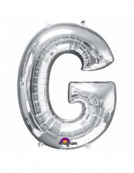 Ballon aluminium gigant bogstav G sølv 63 x 81 cm