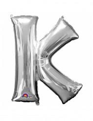 Ballon aluminium gigant bogstav K sølv 66 x83