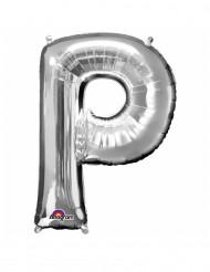Ballon aluminium gigant bogstav P sølv 60 x 81 cm